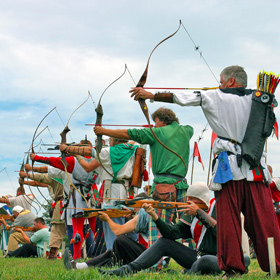 Archers taking aim